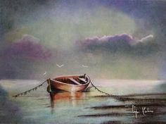 Barca. Pintura pastel