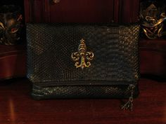 Your place to buy and sell all things handmade Steampunk Fashion, Gothic Fashion, Brass Metal, Leather Bags, Evening Bags, Snake Skin, Parisian, Clutch Bag, French