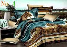 4 pcs 3D flower bedding set, duvet cover comforter bed linen set king/queen