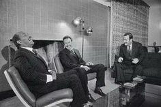 Sadat with Hwary Bo-Madian president of Algeria and Hafez El-Asad president of Syria