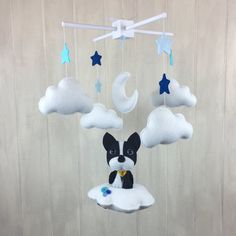 Sophie the Boston Terrier mobile baby mobile  dog by littleHooters  Melissa did an amazing job with my custom mobile! I absolutely love it and know baby will too!