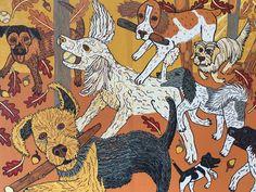 Modern Wall Art, Dog Art, Beagle, Poodle, Moose Art, Original Art, Art Pieces, Contemporary, How To Plan