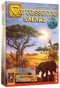 Carcassonne: Safari 999 Game, Safari Game, Hiding In The Bushes, Unique Settings, Jungle Party, Take A Nap, In The Tree, Savannah Chat, Lions
