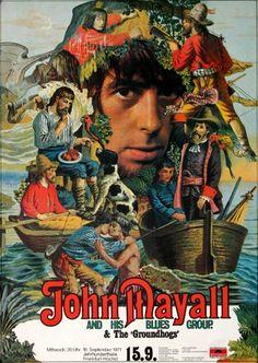 John Mayall - Memories 1971 - Poster Plakat Konzertposter