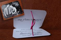Actually Tying the Knot  Save the Date by michelepurnerdesigns