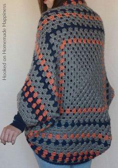 Granny Shrug Crochet Pattern - The Granny Shrug Crochet Pattern uses the classic granny square to make this cute and cozy sweater.