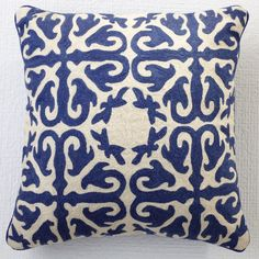 Moroccan Pillow in Lapis Blue