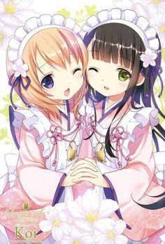Gochuumon wa Usagi Desu ka (Is The Order A Rabbit? Anime Chibi, Vampire Diaries, Anime Friendship, Anime Maid, Maid Cosplay, Waifu Material, Anime Kunst, Kawaii Anime Girl, Anime Girls