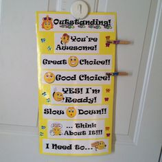 Behavior clip chart for at home!