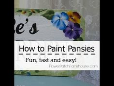 How to Paint a Pansy - YouTube