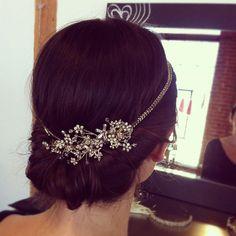 FAITH Rhinestone Floral Comb- bridal comb, veil comb, headpiece, wedding