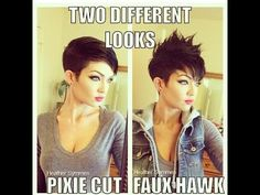 how to style a pixie haircut two different ways - YouTube