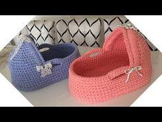 port baby knitting with yarn Crochet Basket Pattern, Crochet Patterns, Crochet Gifts, Crochet Toys, Crochet Storage, Crochet Baby Clothes, Fabric Yarn, Crochet Videos, Baby Knitting