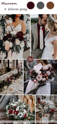 maroon and grey wedding color ideas for fall wedding maroon and grey wedding color ideas for fall wedding Maroon Wedding Colors, Burgundy And Grey Wedding, October Wedding Colors, Grey Wedding Theme, Red Wedding, Wedding Color Schemes, Wedding Season, Wedding Ideas, Spring Wedding