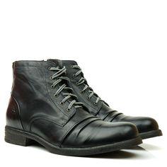c3fd38b51a5 BOTA DEMOCRATA HARBOR 111108-001 PRETO - Black Boots - Botas de Couro  Masculina