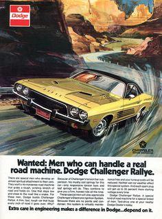 Dodge Challenger adv