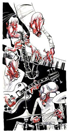 Sketch jazz music art/illustrations/photos em 2019 джаз, оркестр e музыка. Music Painting, Music Artwork, Jazz Art, Jazz Music, Music Illustration, Photo Illustration, Surealism Art, Jazz Poster, Cuban Art