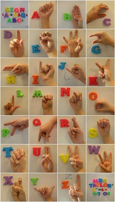 "Sign language alphabet project for the school auction later this month. I like how it turned out. It is being printed as a 16x20"" poster size. I will then frame it and hope for the best. I love how all their little hands look. Tovit even had a band-aid on his finger...very cute! I hope the parents like it and will bid on it!"
