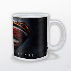 Taza Superman. Man Of Steel Logo 3D