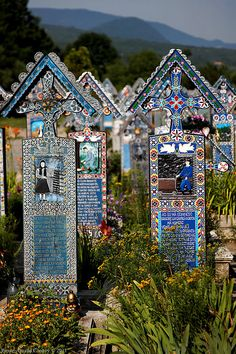 The Merry Cemetery in Sapanta, Maramures, Romania