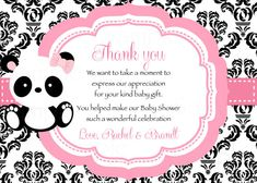 Here are some creative panda baby shower tips. Of all the animals in the animal kingdom, the panda is the creature that is most patient and mild-mannered, not to mention its obvious… 1st Birthday Invitations, Shower Invitations, Invitation Ideas, Panda Baby Showers, Panda Bebe, Celebration Love, Panda Party, Panda Gifts, Baby Shower Invitaciones