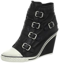 Ash Women's Thelma Wedge Sneaker, Black for $160  #sneakers #fashion #shoes #for #women #giuseppe #ash #stevemadden #newbalance #flats #pumps #heels #boots #slippers #style #sexy #stilettos #womens #fashion #accessories #ladies #jeans #clothes