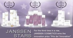 "Janssen Cosmetics Stars! Regeneration Skin Line, Body Line and Trend Edition (Skin Youth) was awarded the coveted innovation prize « Prix H. Pierantoni de L'Innovation » (""Nouvelles Esthétiques"" journal's International Congress for Applied Esthetics, France)"