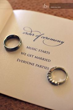 Let's do this on the chalkboard!!! Keep the program simple and to the point. | 31 Impossibly Fun Wedding Ideas