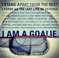 The goalies oath