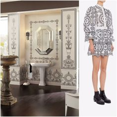 European designs are sophisticated and timeless. Be transitional in design -capture both [ timeless + modern ] designs in one space.  #30daysofFashionMeetsTile #transitionalstyle #traditionalart #traditional #traditionalstyle #traditionalhome #fashiondaily #fashioninspo #fashioninsta #fashion #fashionist #fashionart #fashionstyle #stylegram #styleaddict #instastyle #luxuryfashion #luxurydecor #luxe #interiordecor #interiorideas #interiorforinspo #tiles #tileart #tiledesign #tileaddiction