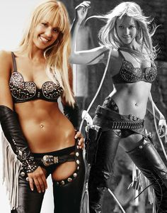 Jessica Alba. Blonde version - In one of favorite roles as Nancy in Sin City. The cowgirl outfit is hot!