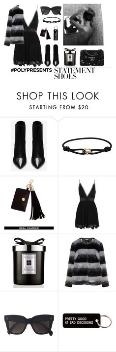 """#PolyPresents: Statement Shoes"" by dantevandenabeele ❤ liked on Polyvore featuring Yves Saint Laurent, Cartier, ASOS, Zimmermann, Jo Malone, Carmakoma, CÉLINE, Various Projects, contestentry and polyPresents"