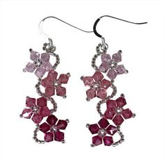 Shop for Handmade Sterling Silver Colorful Crystal Flower Earrings (USA). Get free delivery On EVERYTHING* Overstock - Your Online Jewelry Destination! Crystal Jewelry, Crystal Earrings, Beaded Jewelry, Handmade Jewelry, Silver Earrings, Beaded Earrings, Silver Ring, Diy Jewelry, Silver Bracelets