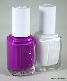 Layer 'blanc' under essie neons to turn up the bright.