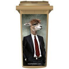 Funky Camel In A Suit & Tie Wheelie Bin Sticker Panel