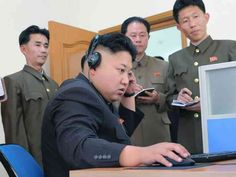 The only people who are allowed to have access to the internet in North Korea are political leaders and their families, students at elite universities and members of their military's cyber warfare department. No one else is allowed online.  RT_kim_jong_computer_1_kab_141223_4x3_992