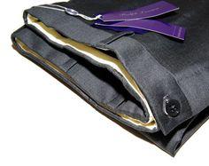 Polo Ralph Lauren Purple Label Mens Gray Grey Flat Front Dress Pants Wool Italy http: