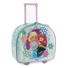 Disney Anna and Elsa Rolling Luggage | Disney StoreAnna and Elsa Rolling Luggage - When facing an eternal winter, little ones will be happy to head for warmer weather with this Anna and Elsa Rolling Luggage. Sparkling snowflakes surround the sisters on the front of this spacious case that's filled with <i>Frozen</i> memories.