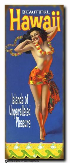 Tropical Pin-Up. Art by Rolf Armstrong, regular resident of Hawaii