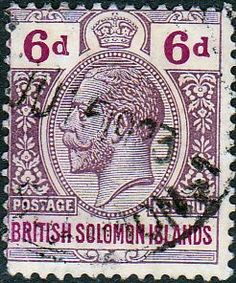 Solomon Island 1914 SG 32 George V Head Fine Used SG 32 Scott 14 Other British Commonwealth Empire and Colonial stamps for sale Here