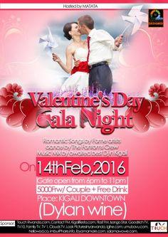 Valentines' Day Gala Night ku nshuro ya mbere igiye kubera mu mugi wa Kigali izanye udushya