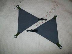 How to make DIY camping hammock suspension triangles: MYOG