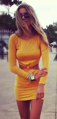 Orange twist dress