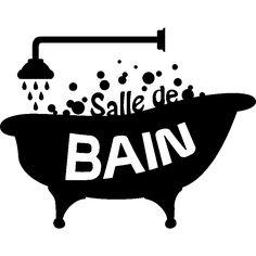 Stickers muraux pour salle de bain - Sticker mural Design Salle de bain