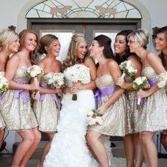 Csillogó koszorúslány ruha , Glitter bridesmaids dress