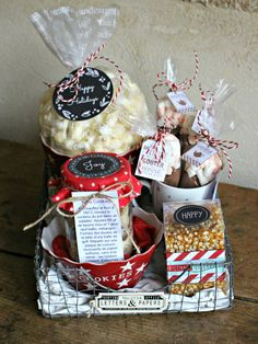 """Panier gourmand """"keep-calm-and-eat-some-sweets"""", Is@ de Belley - Cook & Gift Gourmet Baskets, Gift Baskets, Homemade Gifts, Diy Gifts, Diy Cadeau Noel, Blessing Bags, Ramadan Gifts, Gifts For Cooks, Client Gifts"""