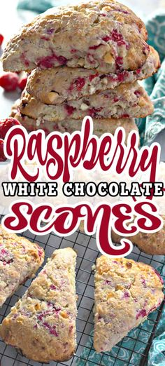 Lower Excess Fat Rooster Recipes That Basically Prime Moist, Flaky, And Bursting With Flavor - These Raspberry White Chocolate Scones Are Perfect Breakfast Or Brunch Best Served With Loved Ones And Plenty Of Coffee. White Chocolate Raspberry Scones, Raspberry Scones Recipe Easy, Brunch Recipes, Breakfast Recipes, Breakfast Ideas, Bread Recipes, Breakfast Dishes, Easy Recipes
