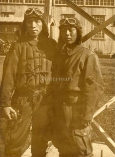 Original WWII Japanese Photo Navy Fighter Kamikaze Pilots Very RARE