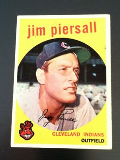 1959 Topps / Jim Piersall baseball card