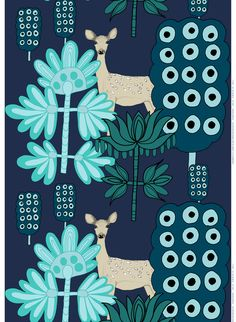 Off to the Woods: Marimekko´s Autumn 2012. Kaunis Kauris (Capricorn), Design: Teresa Moorhouse for Marimekko